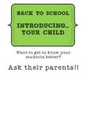 Back to School: Introducing Your Child- Parent Form