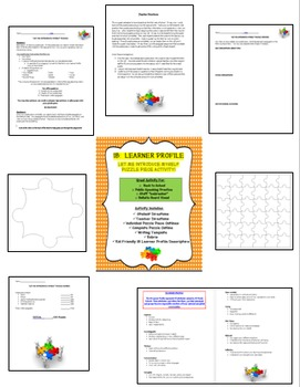 Back to School! Let Me Introduce Myself Puzzle Piece with MYP IB Learner Profile