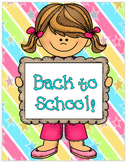 Back to School Introduction Packet for Parents