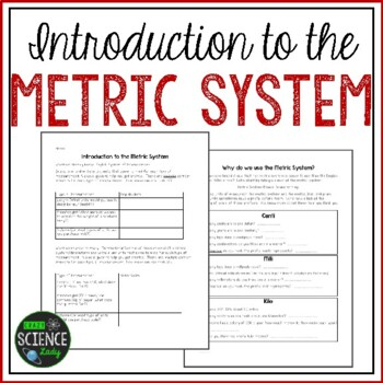 Back to School Introduction to the Metric System