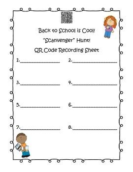 Back to School Is Cool!  It's a QR Code Scanvenger Hunt!