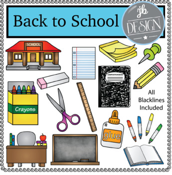Back to School (JB Design Clip Art for Personal or Commercial Use)