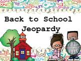 Back to School Jeopardy FREEBIE