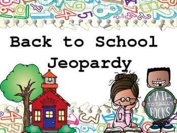 Back to School Jeopardy FREEBIE