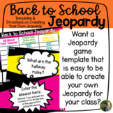 Back to School Jeopardy Game