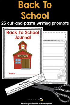 Back to School Writing Prompts | Back to School Writing Activities & Printables