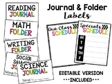 Classroom Labels (Journal & Folders)
