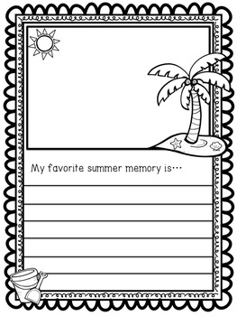 Back to School - Journal -  Get to Know You Activity