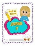 Back to School Journal It