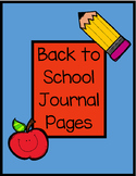 Back to School Journal Page