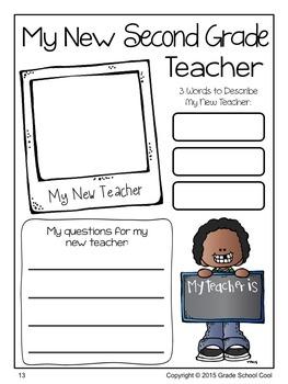 Back to School Journal: Second Grade