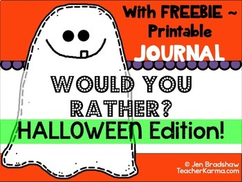 Back to School ~ Journal Writing ~ WOULD YOU RATHER ~ FREE Printable Journal
