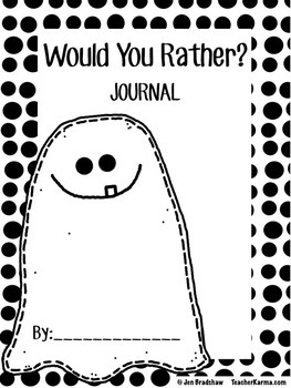 photo relating to Would You Rather Printable called Back again towards Faculty ~ Magazine Composing ~ WOULD Yourself Fairly ~ No cost Printable Magazine