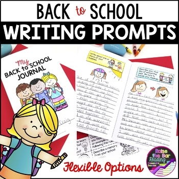 Back to School Journal & Writing Prompts - Full Page or Mini Book