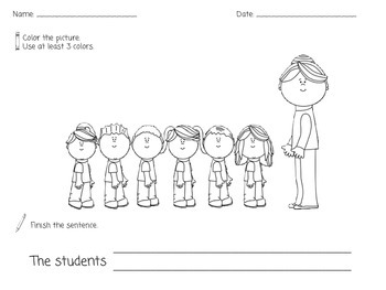 Back to School Journaling Worksheets for Special Education