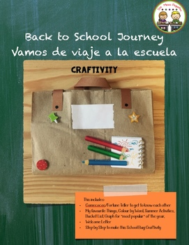 Back to School Journey ~ Vamos de viaje a la escuela Craftivity