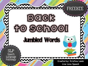 Back to School Jumbled Words {FREEBIE}