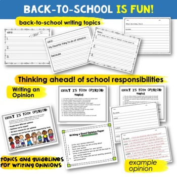 Back-to-School - Writing Activity Pages [for First Weeks of School]