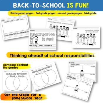 Back to School Writing Prompts and Activities |  [First Weeks of School]