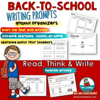 Back-to-School -K-2- Writing Activity Pages for First Week