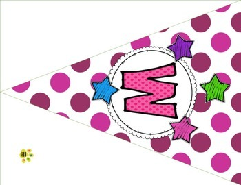 Back to School K- 8 Purple Polka Dots Welcome Banners, Name & Subject Tags &more