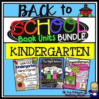 Back to School KINDERGARTEN Book Unit BUNDLE
