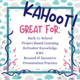 Back to School Kahoot All About Me Ice Breaker Project Bas