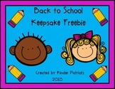 Back to School Keepsake