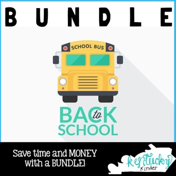 Back to School Kentucky Kinder BUNDLE
