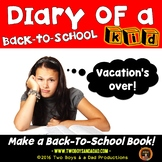 Back to School Kid Diary