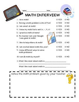 Back to School Kid Interviews Pack