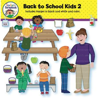 Back to School Kids 2 Clip Art
