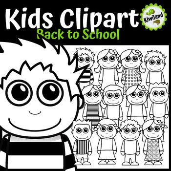 Back to School Kids - Children Clipart