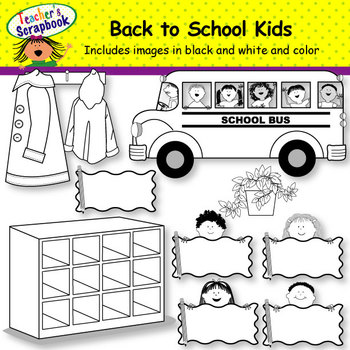 Back to School Kids Clip Art