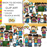 Kids Back-to-School Clip Art