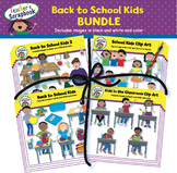 Back to School Kids Clip Art BUNDLE