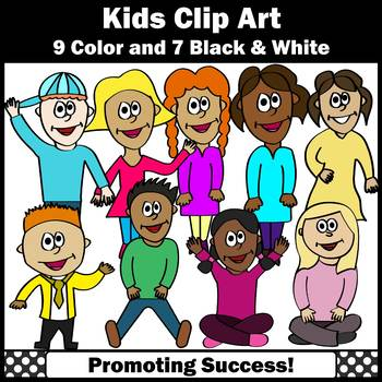 Back to School Kid Clipart Commercial Use Multicultural Children Images SPS