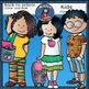 Back to School Kids Clip Art set 2