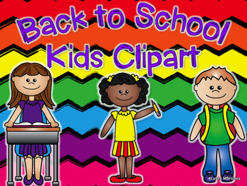 Back to School Kids Clipart