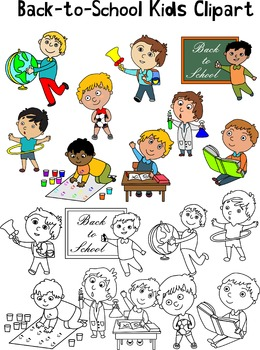 Back-to-School Kids Clipart