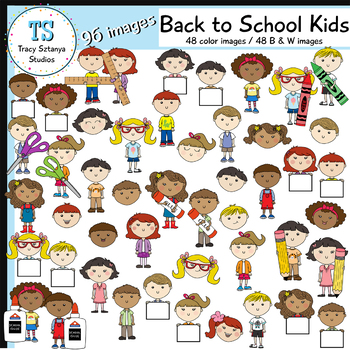 Back to School Kids Clipart Set—ALL 12 Kids {Tracy Sztanya Studios}