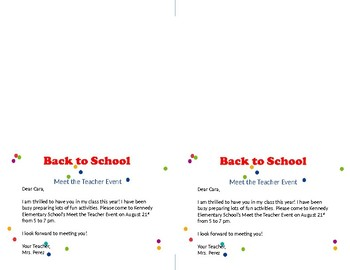 Back to School Kids Note Card
