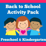 Back to School Kindergarten Activities