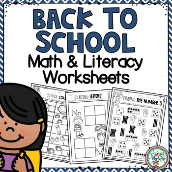 Back to School Kindergarten NO PREP Printables