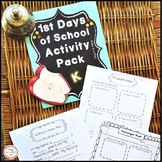 Back to School Kindergarten & First Day of School Activities