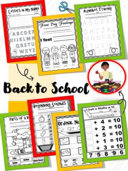 Back to School Kindergarten Activity Pack