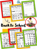 Back to School Kindergarten Activity Pack