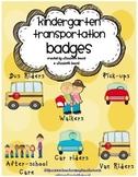 Back to School Kindergarten Bus Badges, Pick up Badges, Walkers...