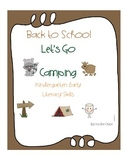Back to School: Let's Go Camping Early Literacy Unit