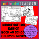 Back to School Kindergarten Coloring Pages